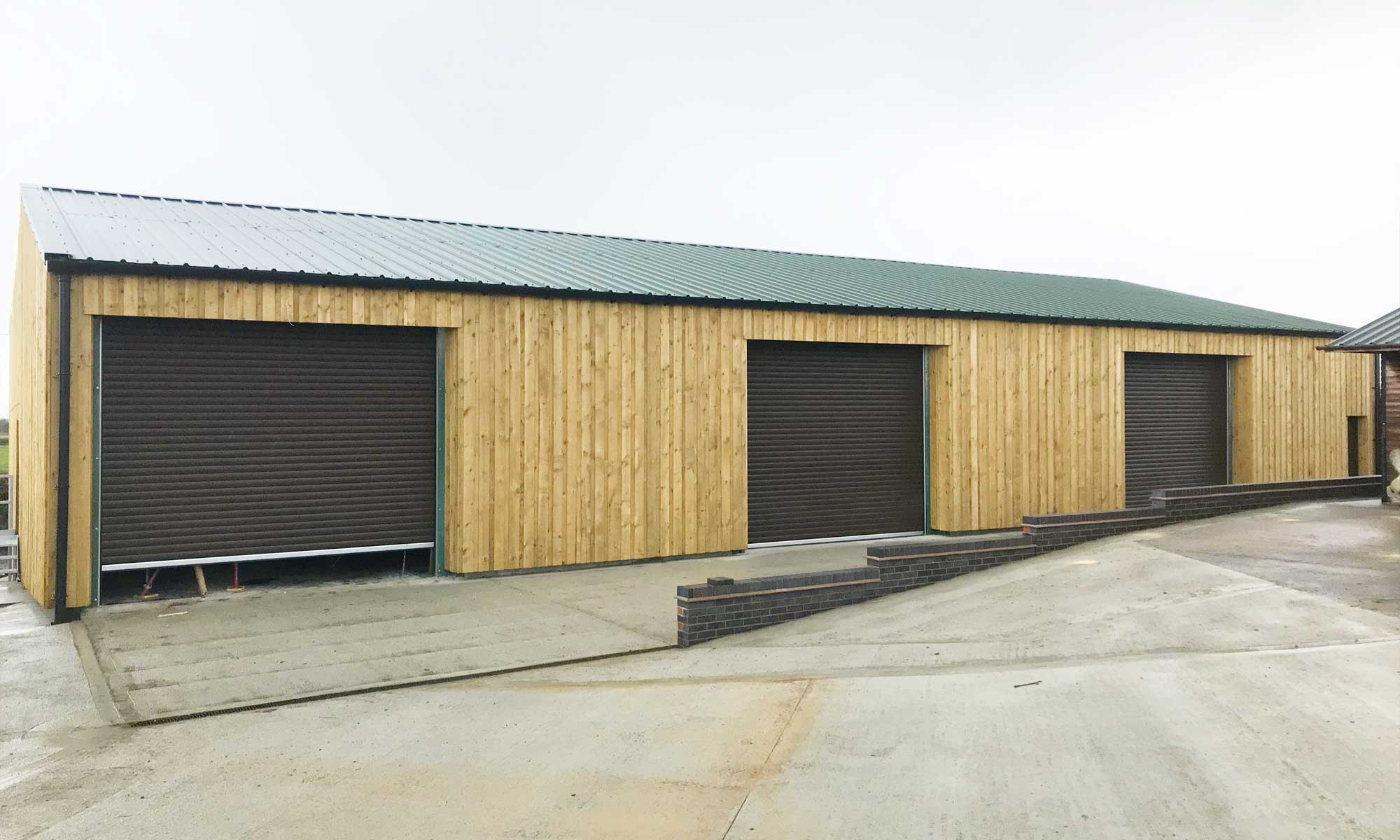 Steel agricultural building contractor Warwickshire